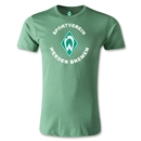 Werder Bremen Distressed Men's Fashion T-Shirt (Heather Green)