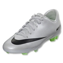 Nike Mercurial Veloce FG Junior (Metallic Platinum/Electric Green)