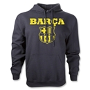 Barcelona Licensed Distressed Hoody (Black)