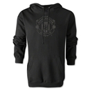 Manchester United Tonal Crest Hoody (Black)