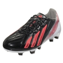 adidas F50 Women's adizero TRX FG Leather (Black/Red Zest/Metallic Silver)