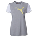 PUMA Cat Women's Soccer T-Shirt (Sv/Wh)