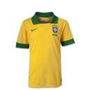 Brazil 2013 Youth Home Soccer Jersey