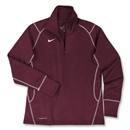 Nike Women's 1/4 Zip Performance Thermal Top (Maroon)