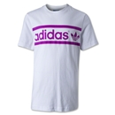 adidas Originals Youth Heritage Logo T-Shirt (White/Pink)