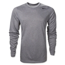 Nike Legend Long Sleeve Poly Top (Gray)