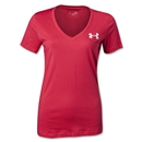 Under Armour Women's I Will V-Neck T-Shirt (Pink)
