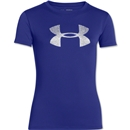 Under Armour Girls Big Logo Tech T-Shirt (Iris)