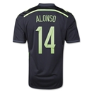Spain 2014 ALONSO Away Soccer Jersey
