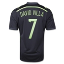 Spain 2014 DAVID VILLA Away Soccer Jersey