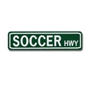 Soccer Highway Street Sign