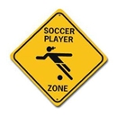 Girl Soccer Zone Sign