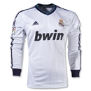 Real Madrid 12/13 LS Home Soccer Jersey