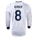 Real Madrid 12/13 KAKA LS Home Soccer Jersey