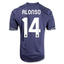 Real Madrid 12/13 ALONSO Youth Away Soccer Jersey