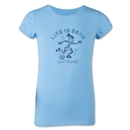 Life is Good Girls Goal Oriented T-Shirt (Sky)