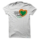 Objectivo Women's Ireland Heart Soccer T-Shirt (White)