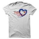 Objectivo Women's France Heart Soccer T-Shirt (White)