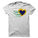 Objectivo Women's Brazil Heart Soccer T-Shirt (White)