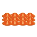Orange Disc Cone Set of 12