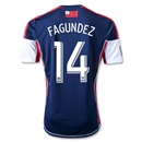 New England Revolution 2013 FAGUNDEZ Primary Soccer Jersey