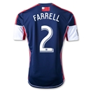 New England Revolution 2013 FARRELL Primary Soccer Jersey
