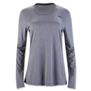 Nike Women's Long Sleeve Legend Shirt (Dk Grey)