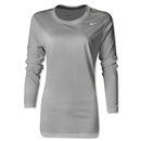 Nike Women's LS Legend Shirt (Gray)