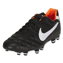 Nike Tiempo Mystic IV FG Cleats (BLACK/WHITE/TOTAL ORANGE)