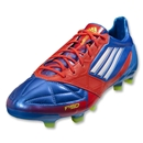 adidas F50 adiZero TRX FG (Leather) Cleats (Prime Blue/White/Core Energy)