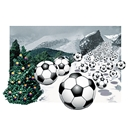 Soccer Avalanche Christmas Card