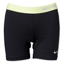 Nike Women's Pro 5 Compression Short II (Blk/Yellow)