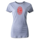 AC Milan Distressed Logo Women's T-Shirt (Gray)