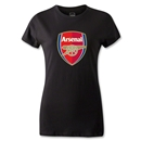 Arsenal Crest Women's T-Shirt (Black)