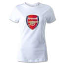 Arsenal Crest Women's T-Shirt (White)