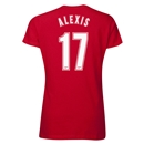 Arsenal Alexis 17 Women's T-Shirt (Red)