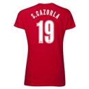 Arsenal S. Cazorla 19 Women's T-Shirt (Red)