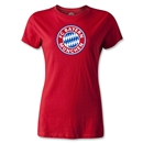Bayern Munich Logo Women's Soccer T-Shirt (Red)