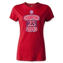 Bayern Munich 2013 Women's Champion T-Shirt (Red)