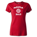 Bayern Munich 2013 Women's Distressed Deutscher Meister T-Shirt (Red)