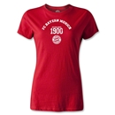 Bayern Munich Distressed Established 1900 Women's T-Shirt (Red)