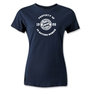 Bayern Munich Distressed Property Women's T-Shirt (Navy)
