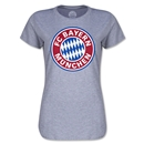 Bayern Munich Logo Women's T-Shirt (Gray)