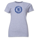Chelsea Distressed Emblem Women's T-Shirt (Gray)