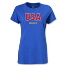 CONCACAF Gold Cup 2013 Women's USA T-Shirt (Royal)