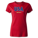 CONCACAF Gold Cup 2013 Women's USA T-Shirt (Red)