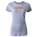 CONCACAF Gold Cup 2013 Women's Canada T-Shirt (Gray)
