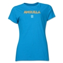 Anguilla CONCACAF Distressed Women's T-Shirt (Turquoise)