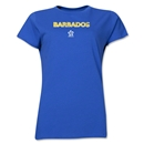 Barbados CONCACAF Distressed Women's T-Shirt (Royal)