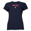 Belize CONCACAF Distressed Women's T-Shirt (Navy)